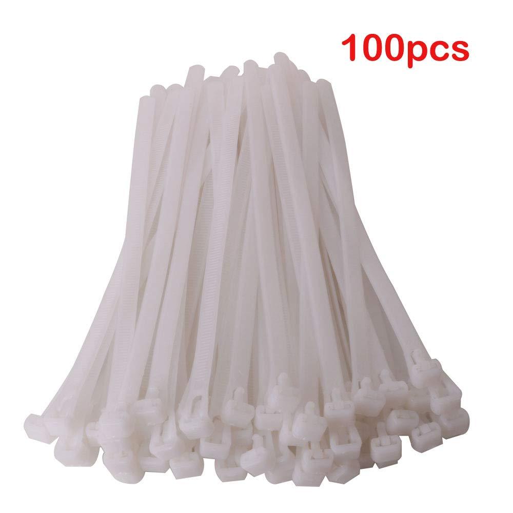 150 mm x 7,5 mm Attache C/âble R/éutilisables Serre C/âbles Nylon Blanc Ultra R/ésistant Serre C/âble Flexible Zip Cable Ties avec Slipknot GTIWUNG Lot de 100 Collier de Serrage R/éutilisable Plastique