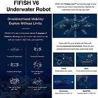Dron submarino Cámara Fifish V6 QYSEA Amplio Ángulo 162˚ 6 ...
