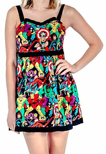 Marvel Super Heroes All Over Sweetheart Dress (Adult Medium) -