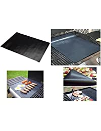"Investment 2 BBQ Grill Mats + 2 Kitchen Multi-use Sheets, Non-Stick, PFOA free, 40 x 50 cm (15 ¾"" x 19 ½""), reusable and... offer"