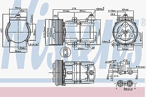 Nissens 890081 Compresor para Aire Acondicionado: Amazon.es: Coche y moto