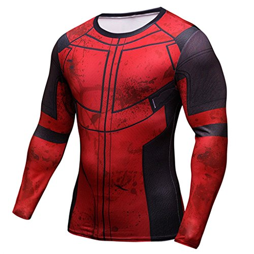 Moit Deadpool Compression Shirt Long Sleeve T Shirt (XXL)