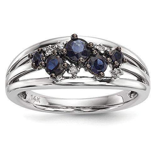 Diamond & Sapphire Band - 8