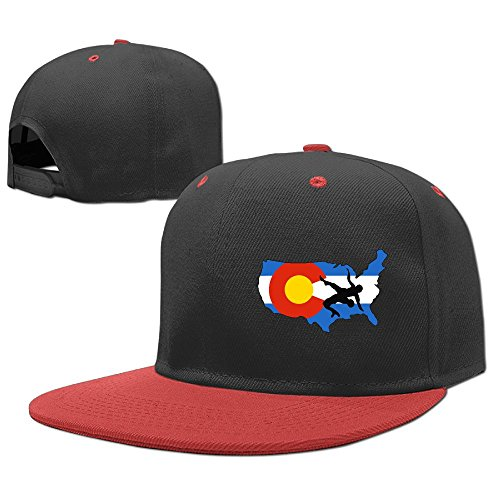 MAKS&&QA/1 Boys Girls Adjustable Four Seasons Flat Cap Colorado USA Wrestling Fitted Hats for Under 13 by MAKS&&QA/1