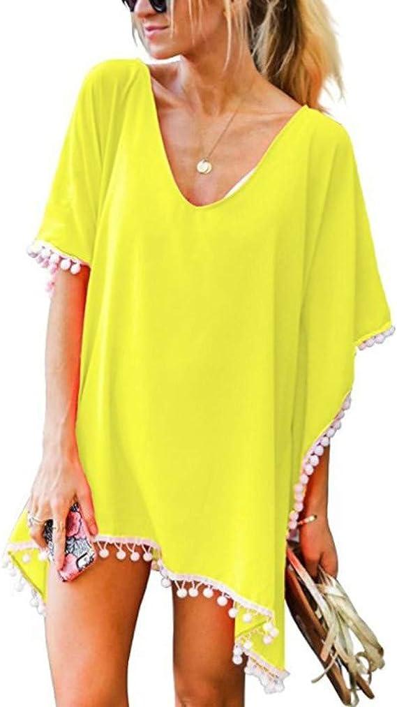 Costura Color de ContrasteTops de Mujer Ronamick Lunares O Cuello Camisetas Yoga Mujer Blusa Blanca Lunares O Cuello Camisa Transparente Mujer(Amarillo,Una talla): Amazon.es: Bricolaje y herramientas