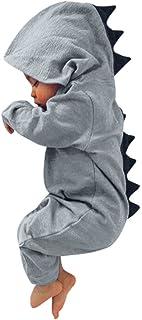 K-youth® Niños niñas con Capucha Pelele Dormir Lleva Recién Nacido Bebé Dinosaurios Jumpsuits K-youth®