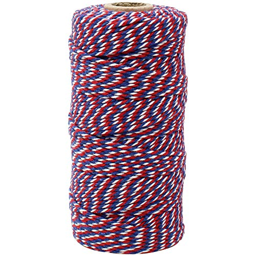 - Just Artifacts ECO Bakers Twine 110-Yards 12Ply Cherry Navy Twist - Decorative Bakers Twine for DIY Crafts and Gift Wrapping