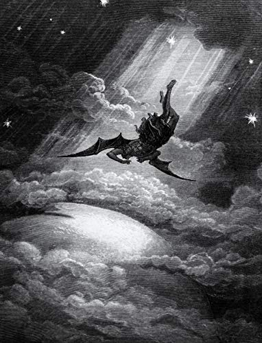Satan's Fall 8.5x11 Photo Print Paradise Lost Lucifer Milton Gustave Doré Art