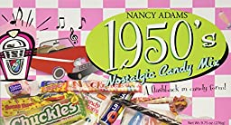 1950\'s Retro Candy Gift Box-Decade Box Gift Basket - Classic 50\'s Candy - 9.75OZ (276g)