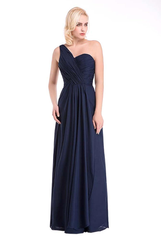 Hot Queen Women's Rhinestones One Shoulder Sex Long Prom Dresses 2016