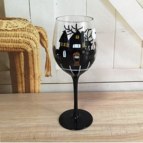 BonNoces HF Glasses Hand-painted wine glasses nice and unique Gifts Party Decoration … (Halloween Party Drinking Glasses)