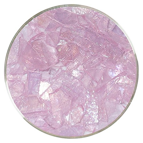 Urobium Pink Iridescent Mosaic Frit - 96COE - 4oz - Made from System 96 Glass ()