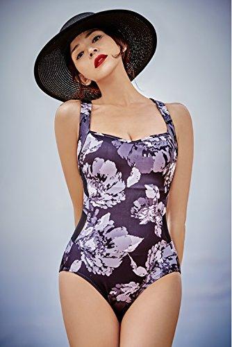 ラッシュガード 水着レディース モノキニ STL Monokini Swimwear Nigella WM Rose Mix Black B0756X9C3R