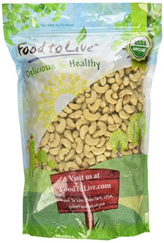 Food To Live ® Organic Cashews (Whole, Raw) (4 Pounds)
