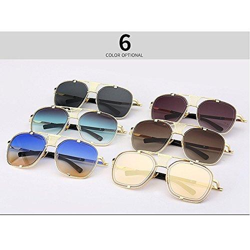 Sol Gafas de Estilo de Verano UV Peggy de de Vacaciones Color Gu C4 Metal para Mujeres Retro para C6 Protección t51wCZqwYn