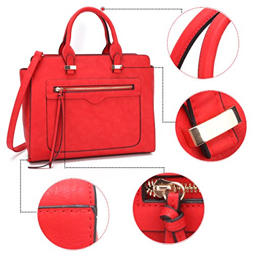 a34f1ed678 Dasein Women Vegan Leather Handbag Designer Purse Satchel Bag - Import It  All