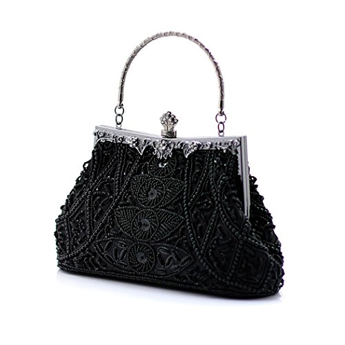 MASEE Flower Gift Elegant Bead VENI Prom Handbag Ideas Evening Various Piece Bag Price Design Party Black Clutch Colors 4RHdHwq