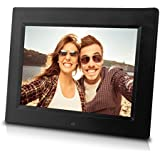 8 inch Digital Photo Frame with Remote Control - Internal 4GB Flash Memory, Slideshow, Multi-functional