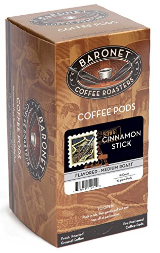 Baronet Coffee Cinnamon Stick Coffee Pods, 54 -