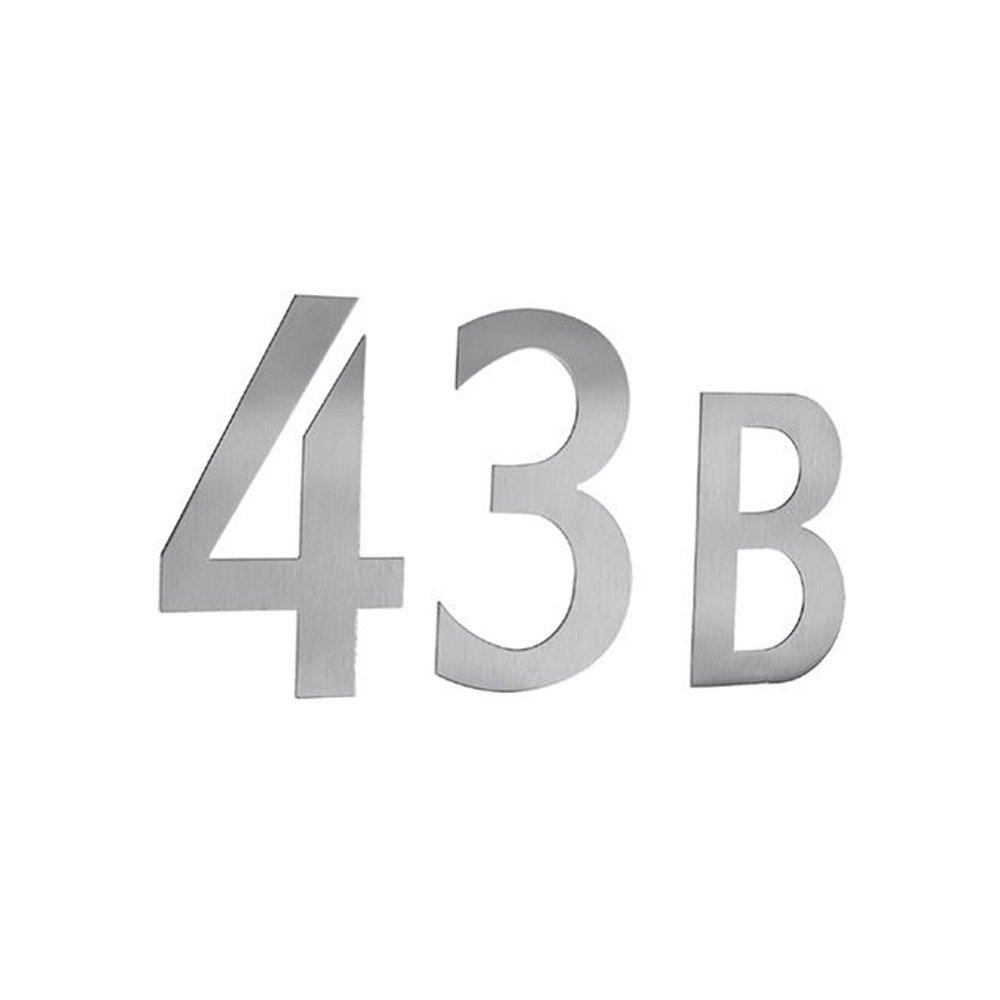 Beslagsboden B985 Num/éro de bo/îte aux lettres 5 autocollant en Acier Inoxydable Bross/é