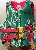 Speedo Child Kids Neoprene Lifevest Personal Flotation Device 30-50 lbs. Turquoise/Pink