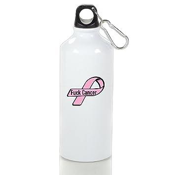 Fuck Cancer deportes botella de agua, deportes botella de agua, 500 ml de aluminio