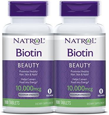 قرص بیوتین ناترول آمریکایی اصل10000 میکروگرمی Biotin tablets (پک دوتایی)