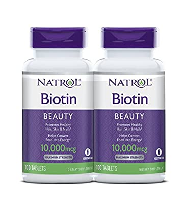 Biotin, a water-soluble B vitamin, acts as a coenzyme in the metabolism of proteins, fats, and carbohydrates.† Biotin is also known as vitamin H or B7 and not only helps to promote radiant skin, strong nails and heathy hair, but also aids in the conv...