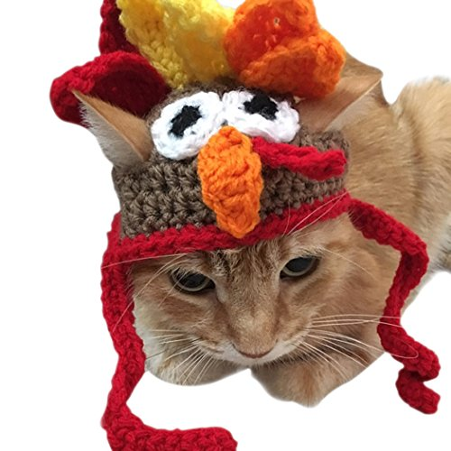 Legendog Cat Costume Pet Turkey Hat Thanksgiving Apparel for Small Dogs and Cats
