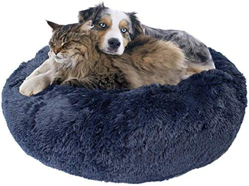Donut Dog Bed, Cozy Poof Style Giant Pet Bed for Dogs Cats – Orthopedic, Washable, Durable Oatmeal, Navy Blue, Brown, Light Grey, and Black Available in 24 , 32 , 36 , 45