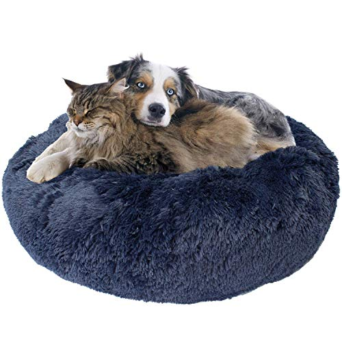 """Donut Dog Bed, Cozy Poof Style Giant Pet Bed for Dogs & Cats - Orthopedic, Washable, Durable (Oatmeal, Navy Blue, Brown, Light Grey, Black, and Rainbow) Available in 24"""", 32"""", 36"""", 45"""""""