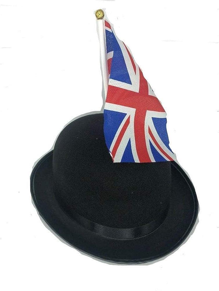 Union Jack Wear Great British Bowler with Union Jack Flag Black