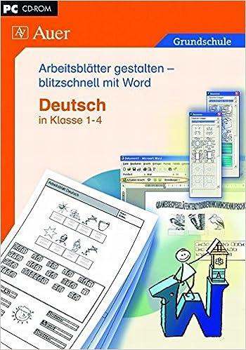 Arbeitsblätter mit Word gestalten - Deutsch: Einzellizenz 1. bis 4 ...