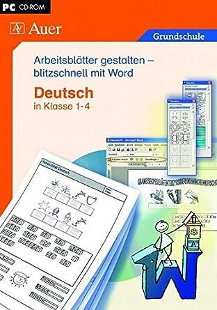 Arbeitsblätter gestalten - blitzschnell mit Word: Deutsch in Klasse ...