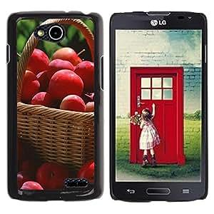 Caucho caso de Shell duro de la cubierta de accesorios de protección BY RAYDREAMMM - LG OPTIMUS L90 - Fruit Macro Red Apples