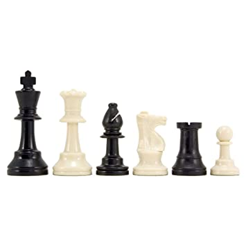 Plastic Tournament Chess Pieces 3.75 inches