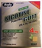 Nicotine Gum 4mg Sugar Free Mint Generic for Nicorette 110 Pieces per Box