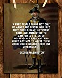 George Washington Quotes Wall Art-'Right to Bear Arms'- 8 x 10'- Wall Print Art-Ready to Frame. Home Décor. Office-Lodge-Garage Décor. General George Washington Military Pose- 2nd Amendment Rights.