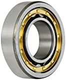 FAG NU206E-M1-C3 Cylindrical Roller Bearing, Single Row, Straight Bore, Removable Inner Ring, High Capacity, Brass Cage, C3 Clearance, 30mm ID, 62mm OD, 16mm Width