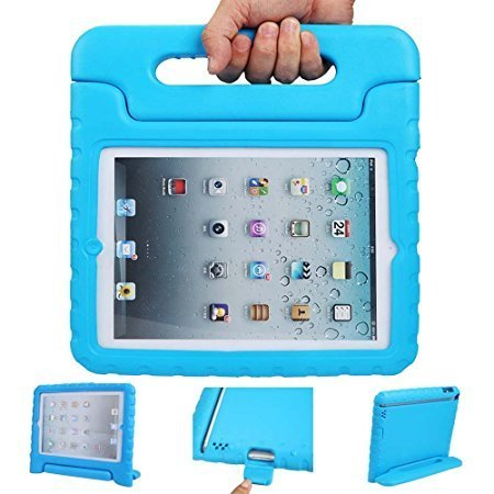 iPad mini case, ANTS TECH Light Weight [ Shockproof ] Cases Cover with Handle Stand for Kids Children for iPad mini 3 & iPad mini 2 & iPad mini (iPad Mini 123, Blue)