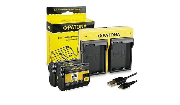 PATONA Dual Cargador Nikon EN-EL15 con micro USB + 2x Bateria para ...