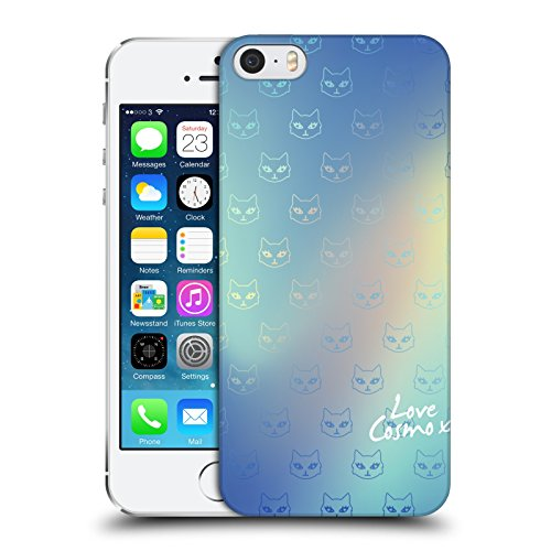 Official Cosmopolitan Blue Cats Iridescence Hard Back Case for Apple iPhone 5 / 5s / SE