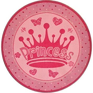 Pink Accent Rug   This Round Pink Princess Rug Is Perfect For A Girlu0027s  (Child
