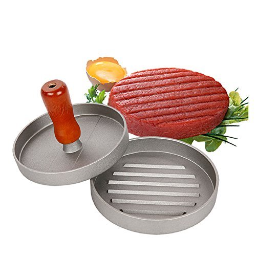 Stuffed Burger Press - Premium Non-Stick Aluminum Hamburger Patty Maker - Heavy Duty Patty Molds Sliders Press,Best Presser for BBQ and Burgers Make - Efficient and Practical