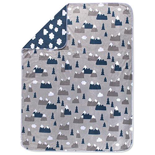 Snowcap Reversible Baby Blanket in Minky Soft Material