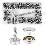 150 PCS Canvas Snap Kit with 2 Pcs Setting Tool, Marine Grade Stainless Steel 3/8