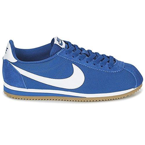 NIKE Classic Cortez Nylon Mens Fashion-Sneakers 807472-405_9.5 - Gym Blue/White-Gum Light (Cortez Nylon)