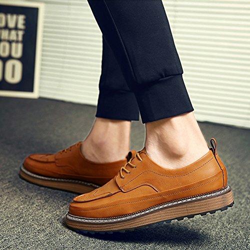 con Zapatos con Zapatos estilo baja hombre para parte Zapatos cordones de casuales respirables británico de superior Zapatos Zapatos de Brown casuales moda la vestir 8arXS8x
