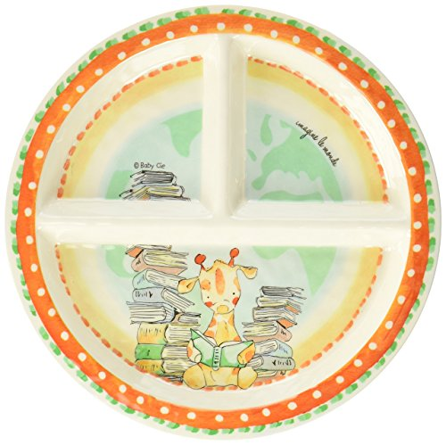Baby Cie Imagine Le Monde 'Imagine The World' Round Textured Sectioned Plate, Multicolor