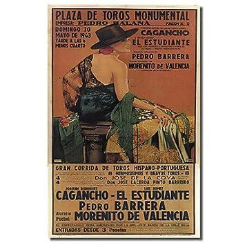 Cartel de la vendimia Plaza Toros 1 por la Apple colección ...